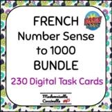 French Math Centres - Les Nombres à 1000 BOOM cards / Numb