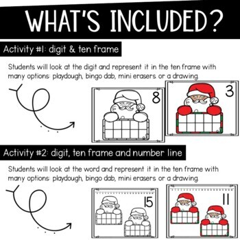 French  Math Mats Christmas Edition Numbers 1-10