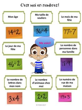 """Math: """"On s'amuse avec les nombres"""", opérations, JEUX & ACTIVITES"""