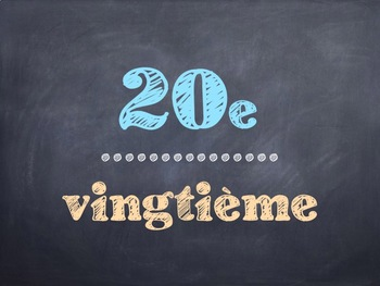 French Math Ordinal Numbers PowerPoint