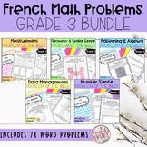 French Math Word Problems BUNDLE (Grade 3 - Problème de la semaine)