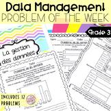 French Math Problem of the Week - Data Management GRADE 3 (Gestion des données)