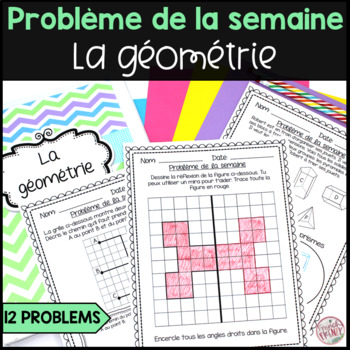 French Math Problem of the Week - Geometry/La géométrie (Problèmes de maths)