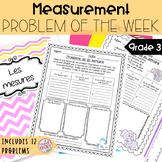 French Math Problem of the Week - Measurement/Les mesures (Problèmes de maths)