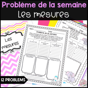French Math Problem of the Week - Measurement/Les mesures (Problèmes de maths)