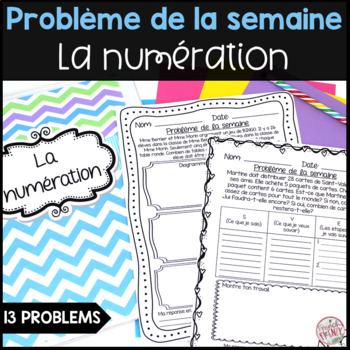 French Math Problem of the Week - Numération (Addition, Su