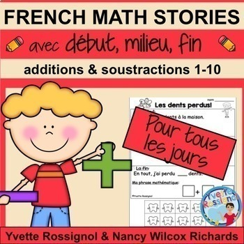 French Math Stories (GROWING BUNDLE)  Résolutions de problèmes en mathématiques