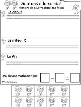 French Math Story Problems (FREE) Résolutions de problèmes en mathématiques