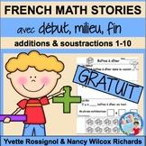 French Math Word Problems FREE   Résolutions de problèmes