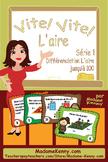 French Math Task Cards Area Series 1- Cartes à tâches L'ai