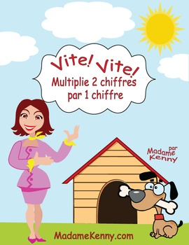 French Math Task Cards-Multiplie 2 Chiffres Par 1 Chiffre