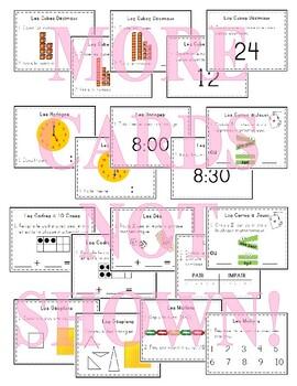 French Math Task Cards (math centers) - Les cartes à tâches mathématiques