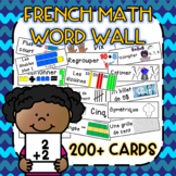 French Math Word Wall