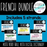 French Math Word Wall Bundle
