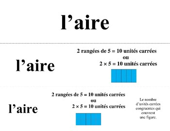 French Math Word Wall 3rd Grade