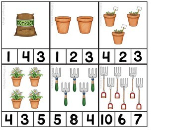 French Math and Literacy Centre Clip Cards - MAY/SPRING Edition