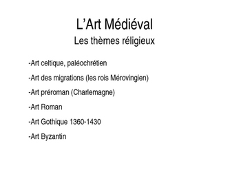 French Medieval and Renaissance Art