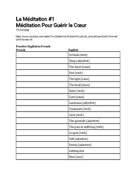 French Meditation #1