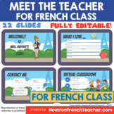 French Meet the Teacher Virtual - back to school Rentree scolaire