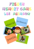 French Memory Game - Les Animaux