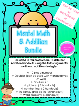 French Addition Bundle- Mental Math