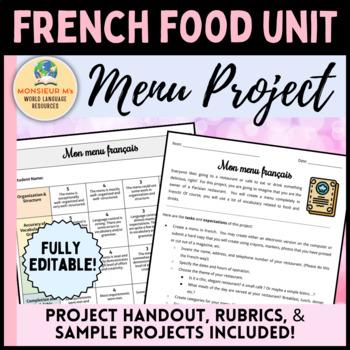 French Menu Project (Food Unit)