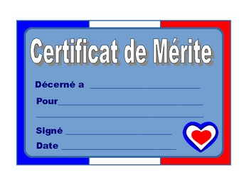 French  Merit Certificates