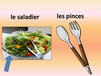 French – Mettons la table – Vocabulary for setting the table -Presentation