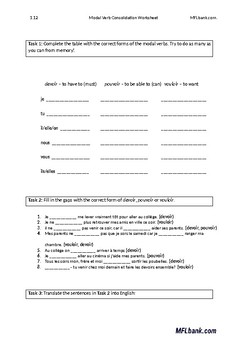 Visiter French verb worksheet by jer | Teachers Pay Teachers