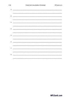 French - Modal Verb Worksheet
