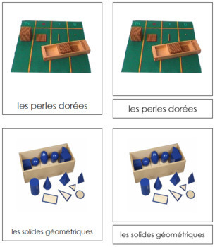 French - Montessori Material Cards