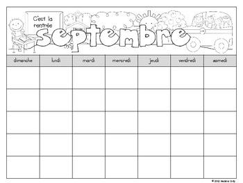 French Monthly Calendars / calendriers français