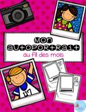 French Monthly Self Portrait/ Autoportrait au fil des mois