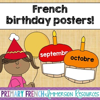 French birthday posters