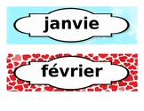 French Months Decorative Strips (for board)