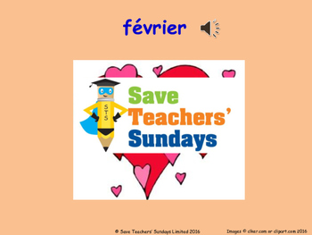 French Months Lesson plan, PowerPoint (with audio), Flashcards & Worksheet