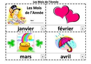 French Months of the Year Emergent Reader - 2 Booklets and Presentation