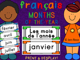 "French ""Months of the Year"" Cards - Français"