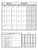 French Morning Calendar Work - grade 1 and 2