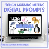 French Morning Meeting Prompts | Google Classroom & Slides
