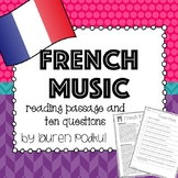 Music from France -  Reading Passage and Questions - Great