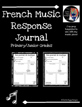 French Music Response Journal #2 (Primary/Junior)- Doodle Notes, No Prep!
