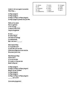 French Music Video and Language Analysis - Pigloo Papa Pingouin