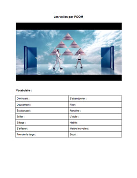 French Music Videos and Song Activities - Bundle of 16 Song Worksheets