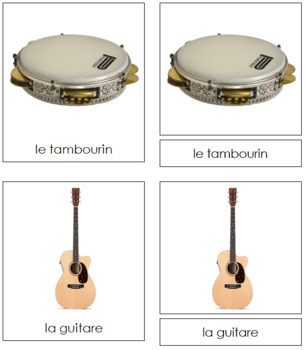 French - Musical Instrument Cards