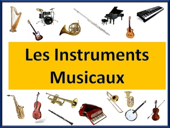 French Musical Instrument  Vocab-Powerpoint Activities and Games