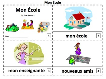 French My School 2 Emergent Reader Booklets - Mon École