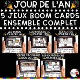 French NEW YEAR'S DAY BOOM Cards - BUNDLE 5 Jeux (Thème JOUR DE L'AN)
