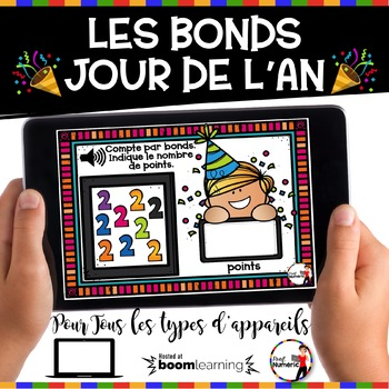 French NEW YEAR'S DAY BOOM Cards - Les bonds (Jour de l'AN : Jeu 1)