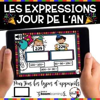 French NEW YEAR'S DAY BOOM Cards - Les expressions (Jour de l'AN : Jeu 3)